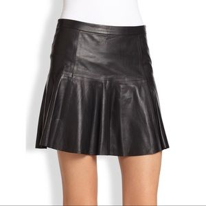 Joie Terina Leather Mini Skirt Black XS